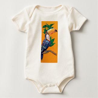 Pintura hermosa del pájaro de Toucan Body Para Bebé