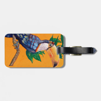 Pintura hermosa del pájaro de Toucan Etiqueta Para Maletas