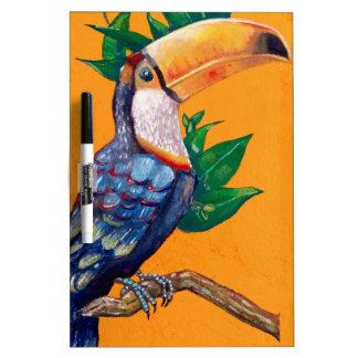 Pintura hermosa del pájaro de Toucan Pizarra Blanca