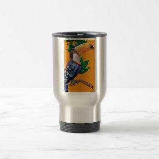 Pintura hermosa del pájaro de Toucan Taza De Viaje