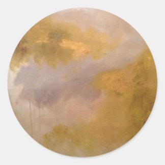 Pintura imperial del extracto del Topaz Pegatina Redonda