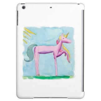 Pintura infantil de la acuarela con el caballo del