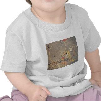 Pintura japonesa antigua extraña de demonios camisetas