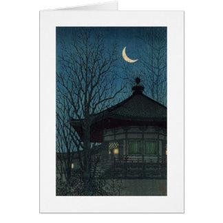 Pintura japonesa circa 1928 tarjeta de felicitación