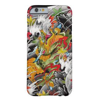 Pintura japonesa de la acuarela del arte del funda de iPhone 6 barely there