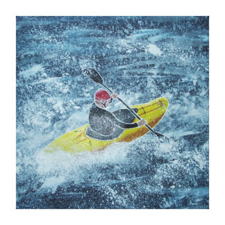 Pintura kayaking de Whitewater Lienzo