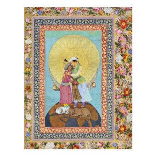 Pintura miniatura de la India a partir de 1618 Postal