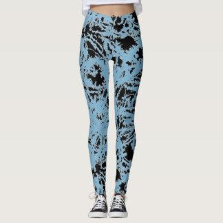 Pintura mojada abstracta leggings