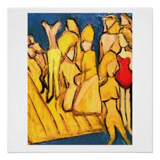 Pintura original abstracta, grupo que lo vara perfect poster