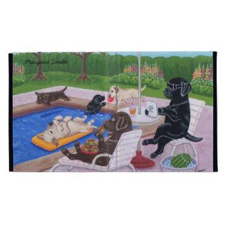 Pintura personalizada de Labradors 2 de la fiesta