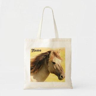 Pintura personalizada del caballo bolso de tela