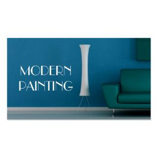 Pintura, pintor, tarjeta de visita de construcción