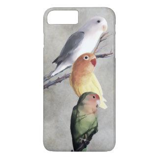 Pintura preciosa de los Lovebirds Funda iPhone 7 Plus