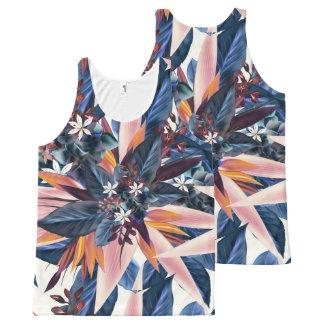 Pintura puntiaguda moderna elegante del arte de la camiseta de tirantes con estampado integral
