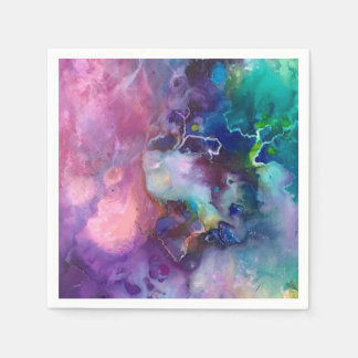 pintura púrpura colorida del modelo de la textura servilletas de papel