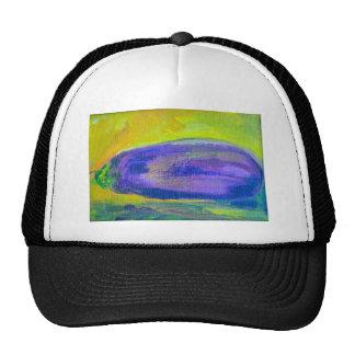 Pintura púrpura de la berenjena gorra