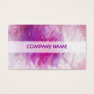 Pintura púrpura fresca del arte abstracto tarjeta de negocios