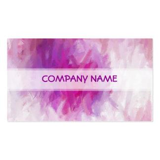 Pintura púrpura fresca del arte abstracto tarjeta de negocio