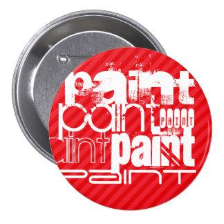 Pintura; Rayas del rojo del escarlata Chapa Redonda 7 Cm