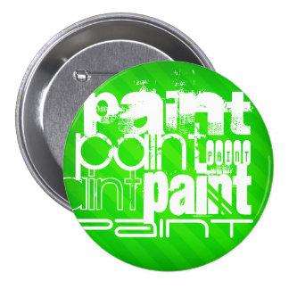 Pintura; Rayas verdes de neón Chapa Redonda 7 Cm