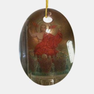 Pintura religiosa de la catedral ornaments para arbol de navidad