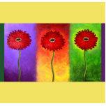 Pintura roja de la flor de la margarita - multi esculturas fotográficas