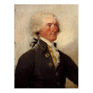 Pintura rústica de Thomas Jefferson Postal