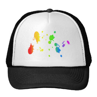 Pintura-salpicadura del arco iris gorros bordados