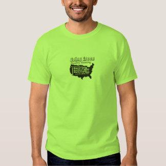 - Pintura sana - hombres verdes que van Camiseta