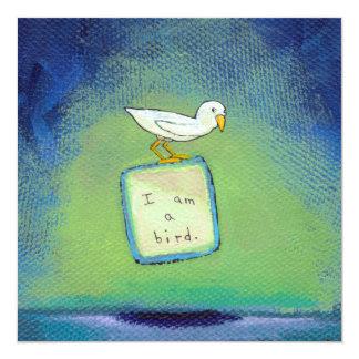 Pintura única de la diversión del arte del amante invitación 13,3 cm x 13,3cm