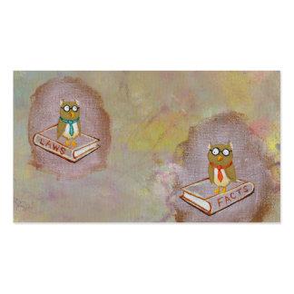 Pintura única del arte del búho del arte de la div tarjetas de visita