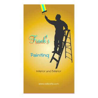 Pintura y adornamiento tarjetas de visita
