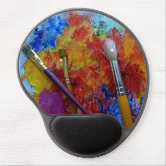 Pintura y cepillos alfombrilla gel