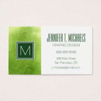 pinturas de la acuarela en un papel áspero de la tarjeta de negocios