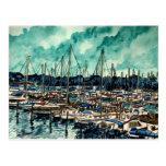 pinturas del arte de la navegación del marinero de postal