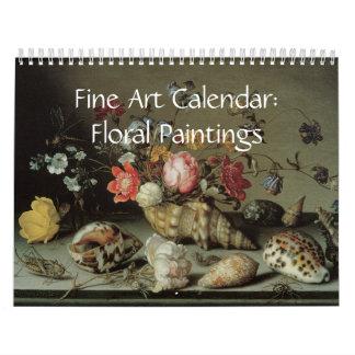 Pinturas florales 2017 del calendario de la bella