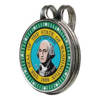 Pinza Para Gorra De Golf Bandera personalizada del estado de Washington en