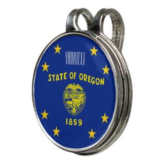 Pinza Para Gorra De Golf Personalizó su bandera del estado de Oregon del