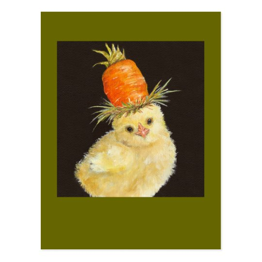 pío con la postal alta de la zanahoria