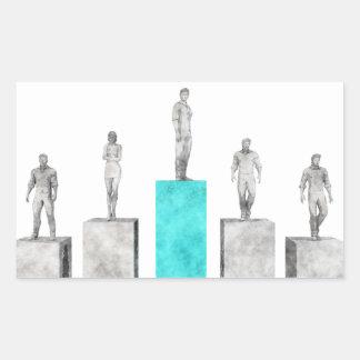 Pionero del negocio y líder del sector del mercado pegatina rectangular