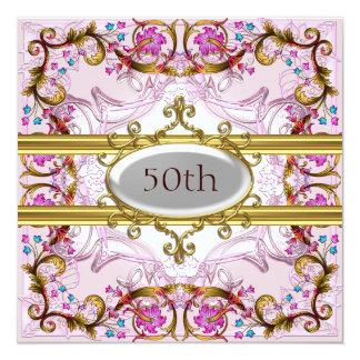 Pique el 50.o marco de la flor del aniversario del