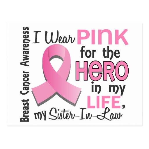 Pique para el cáncer de pecho de la cuñada del hér tarjeta postal