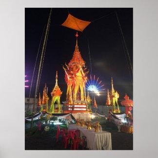 Pira fúnebre en Wat Chetta Woracoop, Chiang Mai Póster