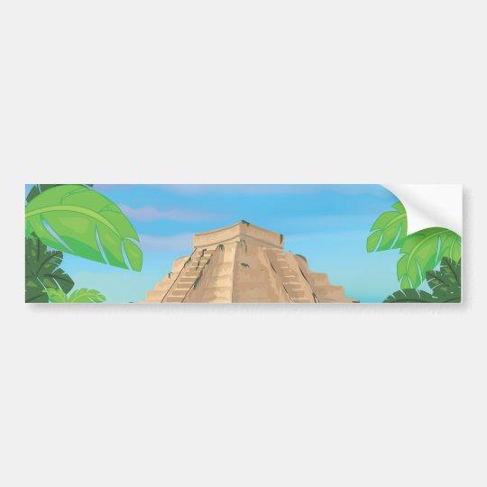Pirámide azteca pegatina para coche