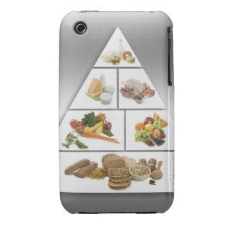 Pirámide de alimentación funda para iPhone 3
