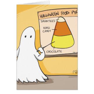 Pirámide del caramelo de Halloween Tarjeta De Felicitación
