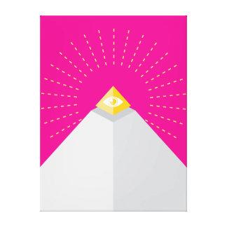 Pirámide iconográfica + Capstone Lona Envuelta Para Galerías