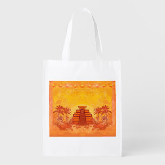 Pirámide maya, bolso de ultramarinos reutilizable  bolsa de la compra