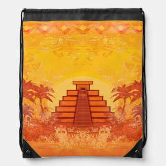 Pirámide maya, mochila del lazo de México