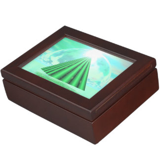 Pirámide mística - 3D rinden Caja De Recuerdos